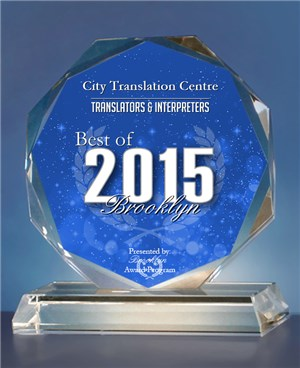 City Translation Centre was recognized as the best translating company in Brooklyn New York